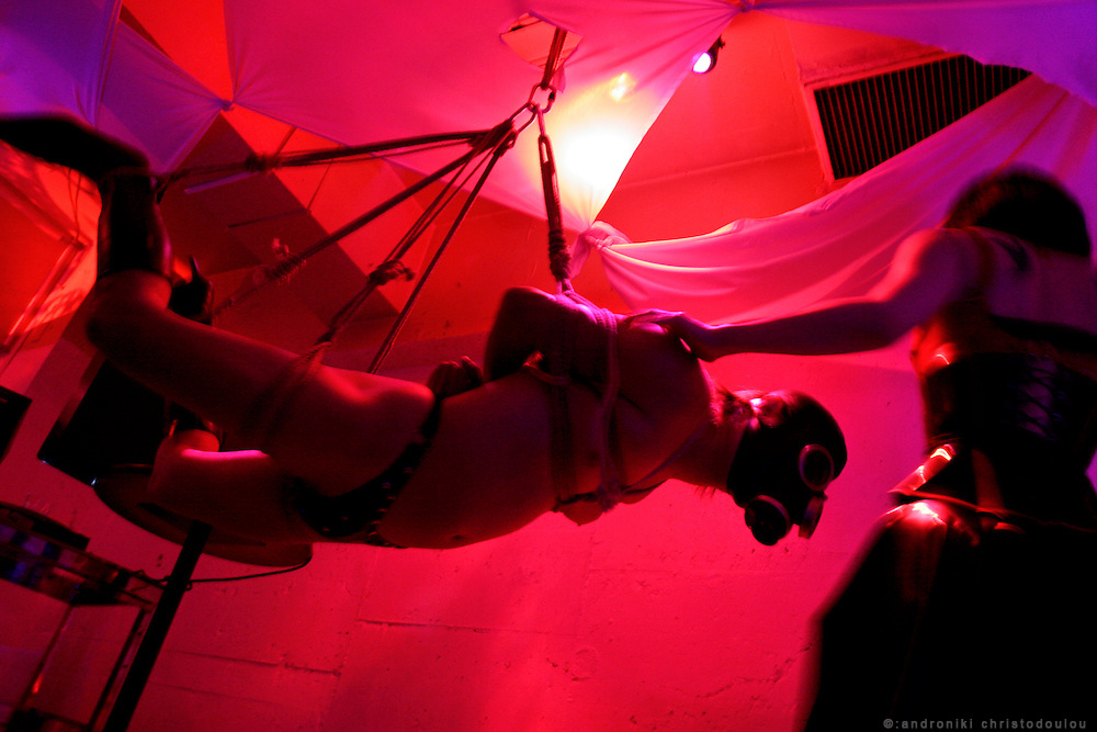 TORTURE GARDEN PARTY at club MODULE - TOKYO - S&M Show organized by Dominatrix house LA SIORA.