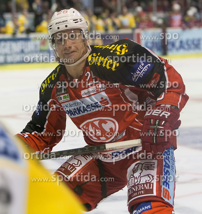 27.10.2013, Stadthalle, Klagenfurt, AUT, EBEL, EC KAC vs Vienna Capitals, 29. Runde, im Bild Kirk Furey (Kac, #25) // during the Erste Bank Icehockey League 29th Round match betweeen EC KAC and Vienna Capitals at the City Hall, Klagenfurt, Austria on 2013/10/27. EXPA Pictures © 2013, PhotoCredit: EXPA/ Gert Steinthaler