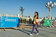 Ashgabat, Turkmenistan - 2017 September 19:<br /> during 2017 Ashgabat 5th Asian Indoor &amp; Martial Arts Games at Ashgabat Olympic Complex on September 19, 2017 in Ashgabat, Turkmenistan.<br /> <br /> Photo by &copy; Adam Nurkiewicz / Laurel Photo Services