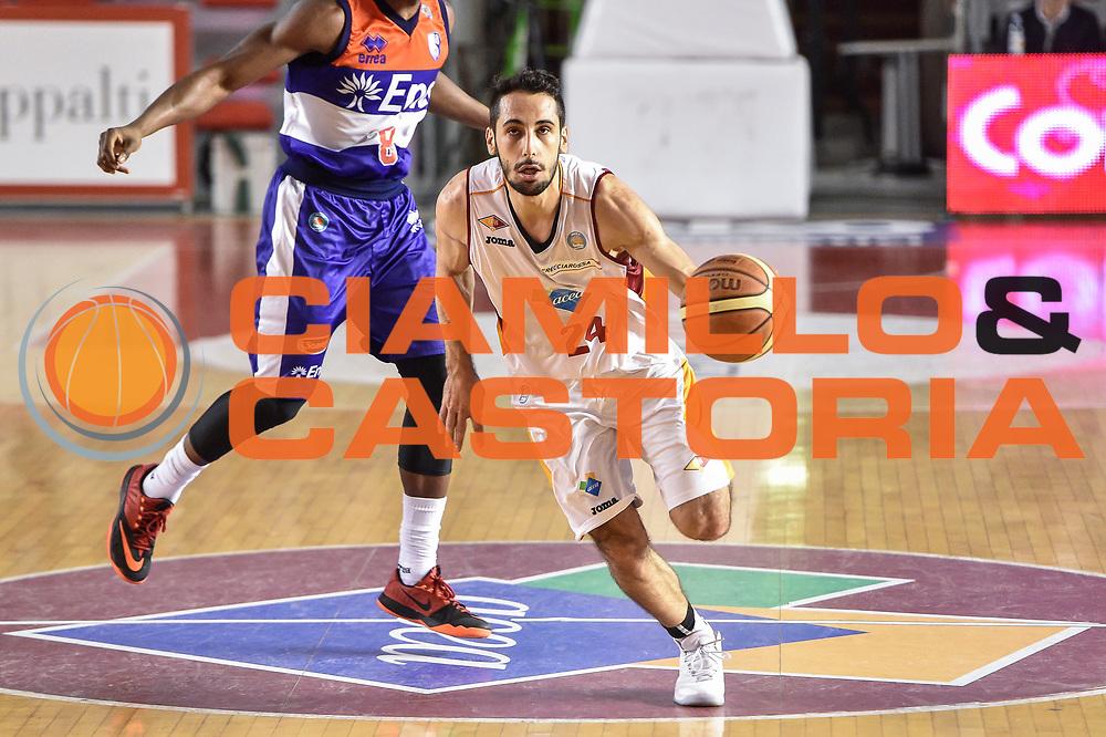 DESCRIZIONE : Campionato 2014/15 Virtus Acea Roma - Enel Brindisi<br /> GIOCATORE : Rok Stipcevic<br /> CATEGORIA : Palleggio Contropiede<br /> SQUADRA : Virtus Acea Roma<br /> EVENTO : LegaBasket Serie A Beko 2014/2015<br /> GARA : Virtus Acea Roma - Enel Brindisi<br /> DATA : 19/04/2015<br /> SPORT : Pallacanestro <br /> AUTORE : Agenzia Ciamillo-Castoria/GiulioCiamillo