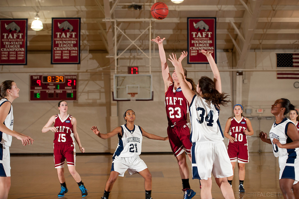 Taft School-February 8, 2014- Girls varsity basketball vs Hotchkiss. (Photo by Robert Falcetti)