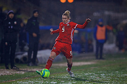 CESENA, ITALY - Tuesday, January 22, 2019: Wales' Rhiannon Roberts during the International Friendly between Italy and Wales at the Stadio Dino Manuzzi. (Pic by David Rawcliffe/Propaganda)
