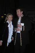 Bertie and Suzanna Way. The Black and White Winter Ball. Old Billingsgate. London. 8 February 2006. -DO NOT ARCHIVE-© Copyright Photograph by Dafydd Jones 66 Stockwell Park Rd. London SW9 0DA Tel 020 7733 0108 www.dafjones.com