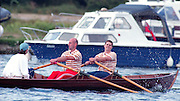 Henley, GREAT BRITAIN,  Men's Skiff  coxed Double sculls. 1995 National Skiff Rowing Championships, Henley Reach Henley on Thames. Berkshire [Mandatory Credit, Peter Spurrier/Intersport-images