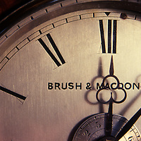 Antique clock face, closeup.