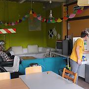 Nederland, Utrecht, 18-08-2011  Studentencomplex Archimedeslaan 16 van de Stichting Tijdelijk Wonen. FPTP: Gerard Til, Utrecht OPDRACHT FD