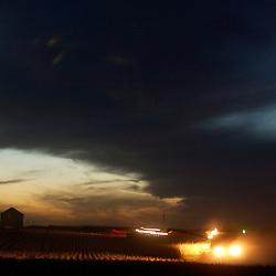 Night Harvest in Granville, Iowa.