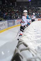 KELOWNA, CANADA, FEBRUARY 11: Carter Rigby #11 of the Kelowna Rockets skates on the ice as the Kamloops Blazers visit the Kelowna Rockets on February 11, 2012 at Prospera Place in Kelowna, British Columbia, Canada (Photo by Marissa Baecker/Shoot the Breeze) *** Local Caption ***