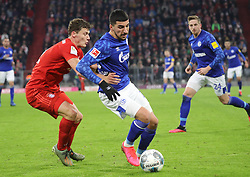 25.01.2020, Allianz Arena, Muenchen, GER, 1. FBL, FC Bayern Muenchen vs Schalke 04, 19. Runde, im Bild Ivan Perisic hält Nassem Boujellab fest // during the German Bundesliga 19th round match between FC Bayern Muenchen and Schalke 04 at the Allianz Arena in Muenchen, Germany on 2020/01/25. EXPA Pictures © 2020, PhotoCredit: EXPA/ SM<br /> <br /> *****ATTENTION - OUT of GER*****