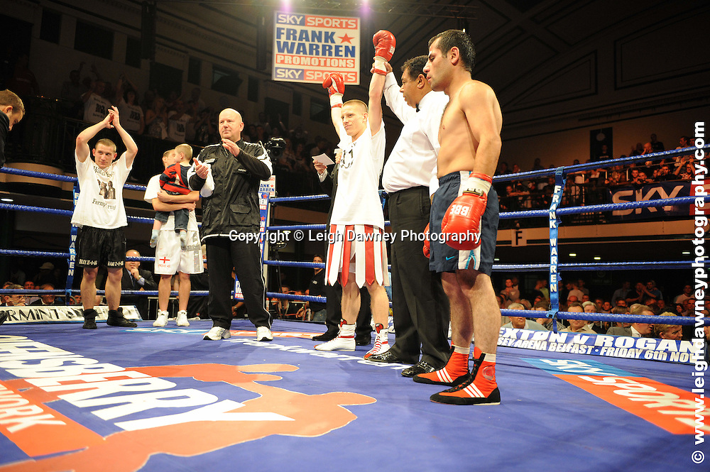 Michael Walsh defeats Kakha Toklikishvili at York Hall, Bethnal Green 9th ocotber 2009. Frank Warren Promotions.Credit: ©Leigh Dawney Photography