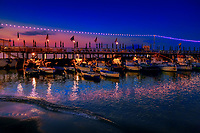 """Crepuscolo sul Sorrentina villaggio di pescatori""...<br />