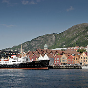 Three weeks aboard the Kong Harald. Hurtigruten, the Coastal Express. Bryggen wharf.