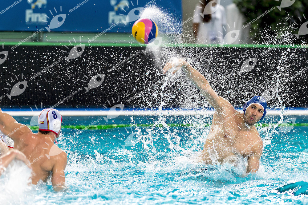 4 FIGLIOLI ITA<br /> FINA Men's Water Polo Olympic Games Qualifications Tournament 2016<br /> Spain ESP (White) Vs Italy ITA (Blue)<br /> Trieste, Italy - Swimming pool Bruno Bianchi<br /> Day3 05-04-2016<br /> Photo G.Scala/Insidefoto/Deepbluemedia