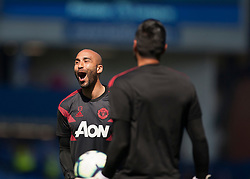 Lee Grant and Sergio Romero of Manchester United warm up - Mandatory by-line: Jack Phillips/JMP - 21/04/2019 - FOOTBALL - Goodison Park - Liverpool, England - Everton v Manchester United - English Premier League