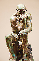 "National Gallery, Washington DC. Sculpture ""The Thinker"" by Rodin."