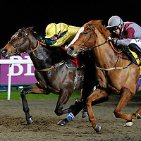 Obboorr and T Eaves winning the 5.55 race