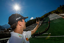 Jernej Damjan at media day of Slovenian Ski jumping team during construction of two new ski jumping hills HS 135 and HS 105, on September 18, 2012 in Planica, Slovenia. (Photo By Vid Ponikvar / Sportida)