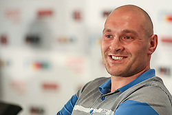 21.07.2015, Esprit Arena, Düsseldorf, GER, WBA Boxkampf, Wladimir Klitschko vs Tyson Fury, im Bild Tyson Fury // during a pressconference of the WBA fight between Wladimir Klitschko and Tyson Fury at the Esprit Arena in Düsseldorf, Germany on 2015/07/21. EXPA Pictures © 2015, PhotoCredit: EXPA/ Eibner-Pressefoto/ Schüler<br /> <br /> *****ATTENTION - OUT of GER*****
