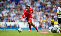 LONDON, ENGLAND - Sunday, August 31, 2014: Liverpool's Daniel Sturridge in action against Tottenham Hotspur during the Premier League match at White Hart Lane. (Pic by David Rawcliffe/Propaganda)