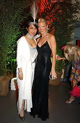 Left to right, PATTI WONG and Model CAPRICE BOURRET at Andy & Patti Wong's Chinese New Year party to celebrate the year of the Rooster held at the Great Eastern Hotel, Liverpool Street, London on 29th January 2005.  Guests were invited to dress in 1920's Shanghai fashion.<br />