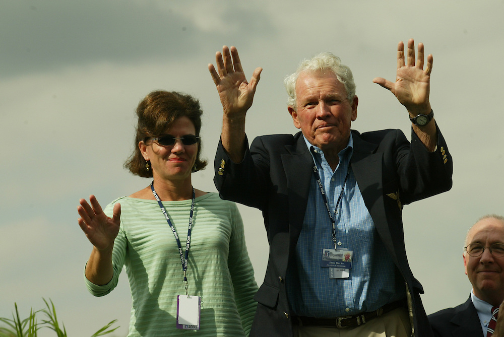 l-r  Robin Burke  Jack Burke, Jr.  .2003 Tour Championship.Champions Golf Club.Houston, TX.November 5, 2003..photograph by Darren Carroll
