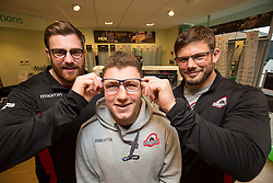 Edinburgh rugby players Simon Berghan, Duncan Weir and Ross Ford officially opened the new Specsavers store at 70 St John Road, Corstorphine, Edinburgh.
