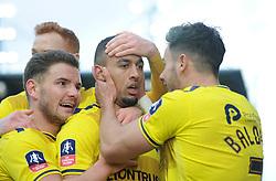 Kemar Roofe of Oxford United celebrates. - Mandatory byline: Alex James/JMP - 10/01/2016 - FOOTBALL - Kassam Stadium - Oxford, England - Oxford United v Swansea City - FA Cup Third Round