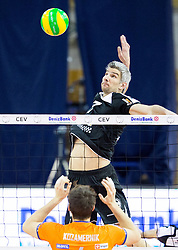 27-01-2015 SLO: CEV CL ACH Volley Ljubljana - Berlin Recycling Volleys, Ljubljana<br /> Jan Kozamernik of ACH vs Rob Bontje of Berlin Volleys during volleyball match between ACH Volley Ljubljana (SLO) and Berlin Recycling Volleys (GER) in Round #6 in Pool C of CEV DenizBank Volleyball Champions League.