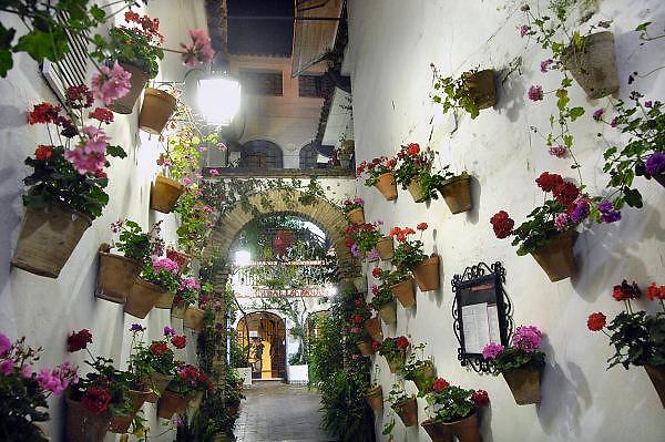 Spanje, Cordoba, 6-5-2010Festival de la Patios. Bewoners van de oude stad met een patio, hebben hun binnenplaats, met bloemen en planten versierd. Cordoba staat in mei bekend om zijn mooi aangekleedde binnenplaatsen en balkons. Het trekt veel toeristen.Residents of the old city with a patio, have their courtyard, decorated with flowers and plants. Cordoba in May is known for its beautifully decorated courtyards and balconies. It attracts many tourists.Foto: Flip Franssen/Hollandse Hoogte