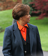 Marian Robinson at the White House Easter Egg Roll on the South Lawn of the White House on April 13, 2009.  Photograph by Dennis Brack