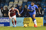 Gillingham forward Jay Emmanuel-Thomas (50) during the EFL Sky Bet League 1 match between Gillingham and Northampton Town at the MEMS Priestfield Stadium, Gillingham, England on 12 November 2016. Photo by Martin Cole.