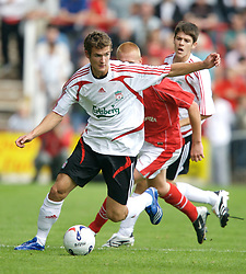 Wrexham, Wales - Saturday, July 7, 2007: Liverpool's Andras Simon during a preseason match against Wrexham at the Racecourse Ground. (Photo by David Rawcliffe/Propaganda)