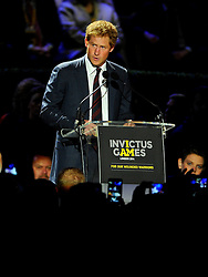 His Royal Highness, Prince Harry addresses the crowd at the opening ceremony for the invictus games - Photo mandatory by-line: Joe Meredith/JMP - Mobile: 07966 386802 - 10/09/14 - The Invictus Opening Ceremony - London - Queen Elizabeth Olympic Park