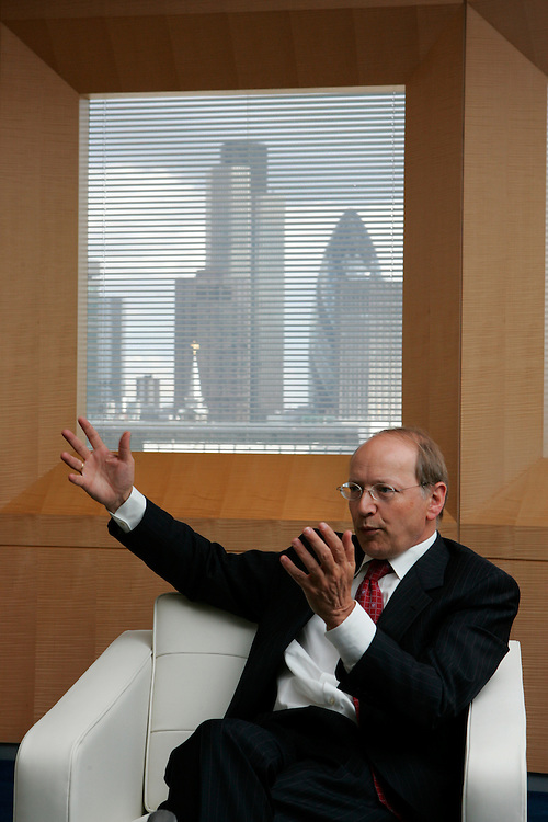 Ben Verwaayen CEO British Telecom at his office in the city of london  by Neville Elder