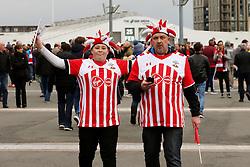 Southampton fans arrive at Wembley Stadium - Mandatory by-line: Matt McNulty/JMP - 26/02/2017 - FOOTBALL - Wembley Stadium - London, England - Manchester United v Southampton - EFL Cup Final