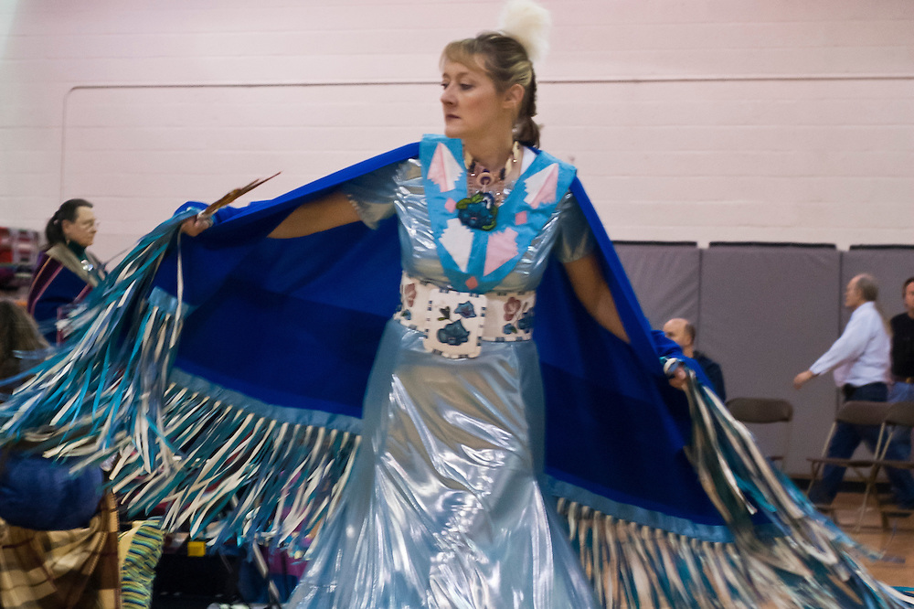 Lathan Goumas | MLive.com..March 11, 2012 - Marci Schumacher of Farmington Hills dances during the 35th Annual Great Lakes Indian Cultural Association Pow Wow at Baker College in Flint Township on Sunday.