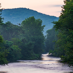 Dawn on the Battenkill River in Shushan, New York near the Vermont border.