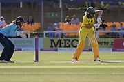 Meg Lanning batting during the Royal London Women's One Day International match between England Women Cricket and Australia at the Fischer County Ground, Grace Road, Leicester, United Kingdom on 4 July 2019.