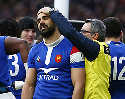 February 10, 2019 - London, England, United Kingdom - Yoann Huget of France.during the Guiness 6 Nations Rugby match between England and France at Twickenham  Stadium on February 10th, 2019 in Twickenham, London, England. (Credit Image: © Action Foto Sport/NurPhoto via ZUMA Press)
