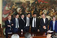 20160407 - Conf. Stampa Fibra per Italia  Matteo Renzi, Francesco Starace palazzo Chigi
