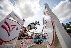 DUFFY, Michael G (IRL), Lapuccino 2<br /> Berlin - Global Jumping Berlin 2019<br /> CSI5* - GCT Team-Wettbewerb<br /> 2. Runde; <br /> Qualifikation LGCT; <br /> Springprüfung nach Fehlern und Zeit für Teams und Einzelreiter, international<br /> 27. Juli 2019<br /> © www.sportfotos-lafrentz.de/Stefan Lafrentz