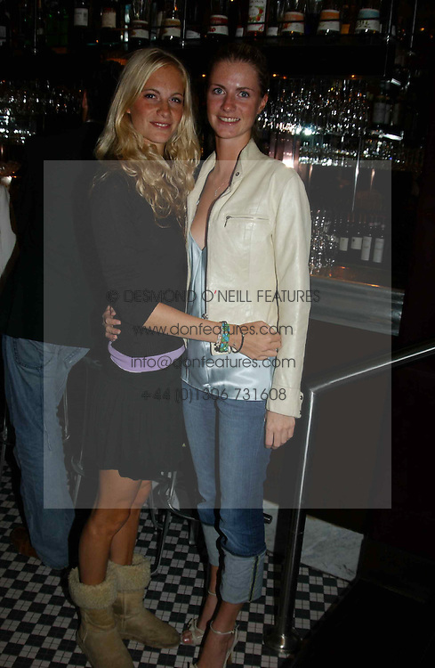 Left to right, MISS POPPY DELEVINGNE and MISS CHLOE DELEVINGNE at a party hosted by Frankie Dettori, Marco Pierre White and Edward Taylor to celebrate the launch of Frankie's Italian Bar & Grill at 3 Yeomans Row, London SW3 on 2nd September 2004.