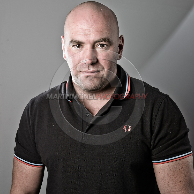 "NOTTINGHAM, ENGLAND, SEPTEMBER 27, 2012: A portrait Dana White of as taken at the pre-fight press conference ahead of ""UFC on Fuel TV: Struve vs. Miocic"" inside the Hilton Hotel in Nottingham , United Kingdom on Thursday, Septermber 27, 2012 © Martin McNeil"