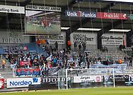 FODBOLD: FC Helsingør fans under playoff-kampen til ALKA Superligaen mellem Viborg FF og FC Helsingør den 4. juni 2017 på Energi Viborg Arena. Foto: Claus Birch