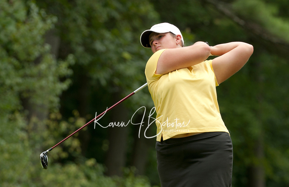 Nikki Hadd during LPGA Futures Tour Saturday, July 23rd.  (Karen Bobotas/for the Concord Monitor)