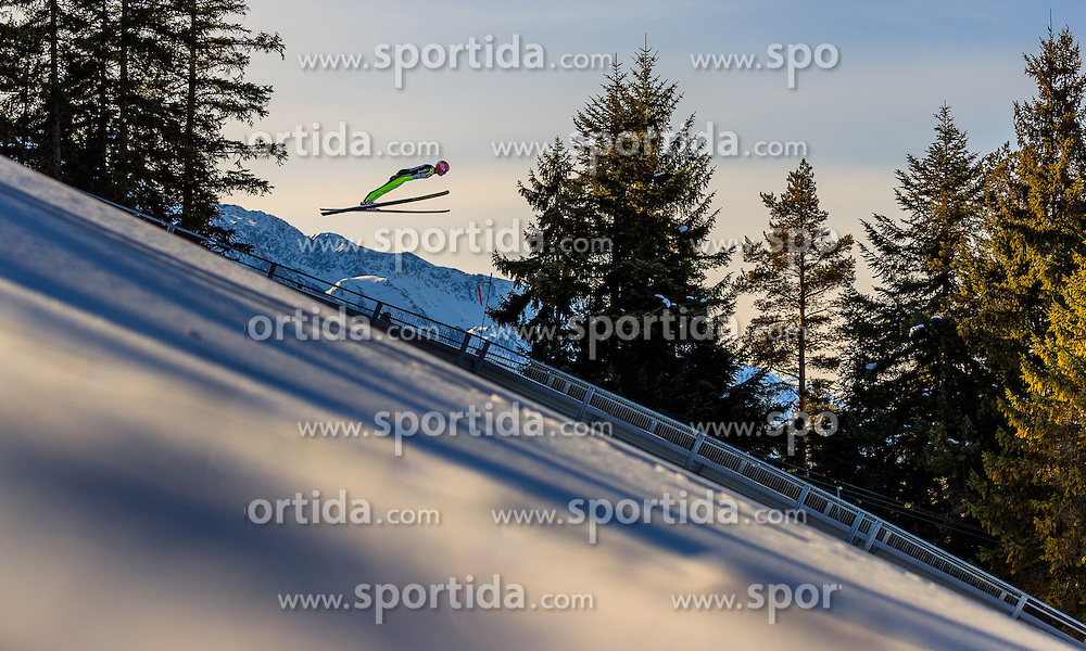 28.01.2017, Casino Arena, Seefeld, AUT, FIS Weltcup Nordische Kombination, Seefeld Triple, Skisprung, im Bild Terence Weber (GER) // Terence Weber of Germany in action during his Trail Jump of Skijumping of the FIS Nordic Combined World Cup Seefeld Triple at the Casino Arena in Seefeld, Austria on 2017/01/28. EXPA Pictures © 2017, PhotoCredit: EXPA/ JFK