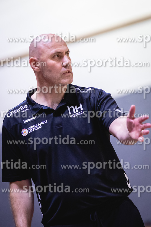 Erlingur Richardsson head coach of Nederland national team during friendly handball match between Slovenia and Nederland, on October 25, 2019 in Športna dvorana Hardek, Ormož, Slovenia. Photo by Blaž Weindorfer / Sportida