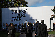 The VIP preview of Frieze. Regent's Park. London. 16 October 2013