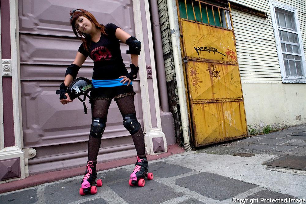 "Stefanie Cerdas Torros, aka ""Vanilla Punk Rocker"" poses for the camera."