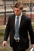 London, United Kingdom - 22 November 2011.Manager of football team Chorley and former footballer with Blackburn Rovers, Garry Flitcroft. Witnesses arrive for hearings for the Leveson Enquiry into allegations of phone hacking by the media. Royal Courts of Justice, Charing Cross, London, England, UK..Copyright: ©2011 Equinox Licensing Ltd. +448700 780000 - Contact: Equinox Features - Date Taken: 20111122 - Time Taken: 131030+0000 - www.newspics.com